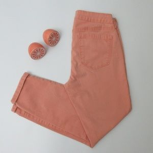 Jessica Simpson Peach Blush Skinny Rollup Crop 28""